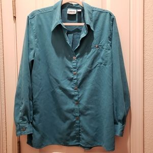 Chicos Design Teal Long Sleeve Button Down 2